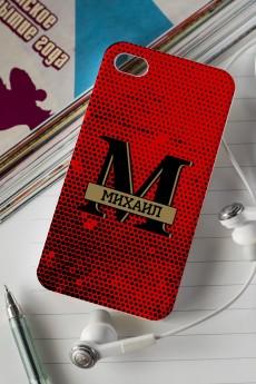 Чехол для iphone 4/4S с вашим текстом «MAN»