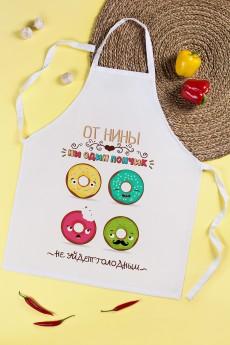 Фартук кухонный с Вашим текстом «Веселые пончики»
