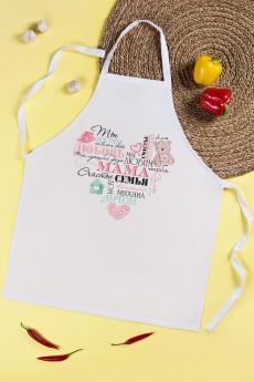 Фартук кухонный с нанесением текста «Теплое сердце»