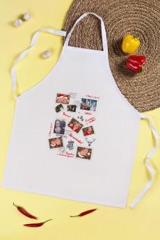 Фартук кухонный с нанесением текста «Новогоднее письмо»