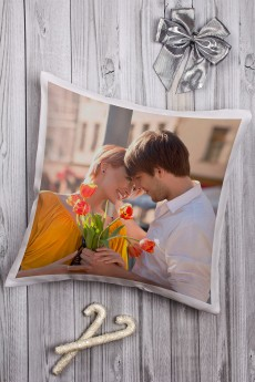 Подушка декоративная с Вашим именем «Романтика»