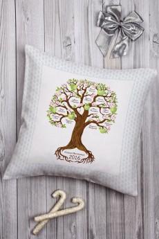 Подушка декоративная с Вашим именем «Семейное древо»