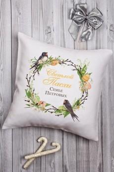 Подушка декоративная с Вашим именем «Пасхальный венок»