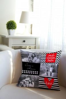 Подушка декоративная с Вашим именем «Живи, Смейся, Люби»