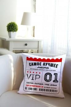 Подушка декоративная с Вашим именем «Билет на матч»