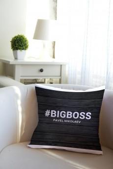 Подушка декоративная с Вашим именем «Boss»