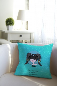Подушка декоративная с Вашим именем «Знаки зодиака (брюнетка)»