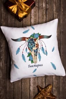 Подушка декоративная с Вашим именем «Узор»