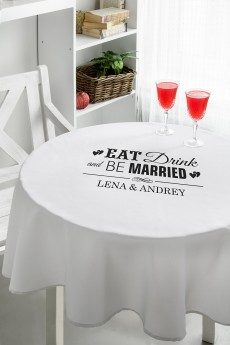 Скатерть с Вашим текстом «Be married»