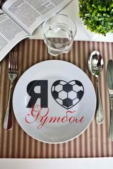 Тарелка декоративная с вашим текстом «I love football»