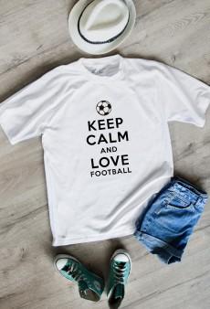Футболка мужская «Keep calm and love football»