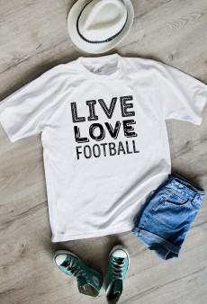Футболка мужская «Live love football»