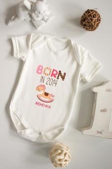Боди для малыша с вашим текстом «Born in 2014»