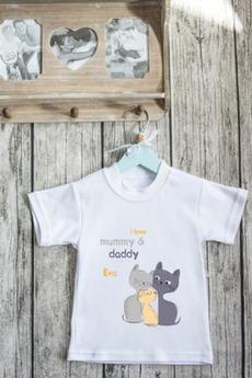 Футболка детская с вашим текстом «Семья котиков»