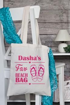 Сумка с Вашим текстом «Fav Beach Bag»