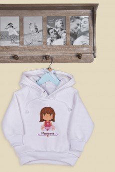 Толстовка  детская с Вашим текстом «Маленькая модница»
