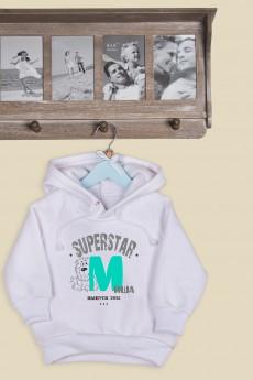 Толстовка  детская с Вашим текстом «SuperStar»