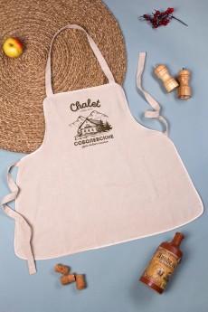 Фартук кухонный с нанесением текста «Chalet»