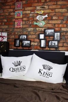 Наволочки с Вашим текстом «King & Queen»