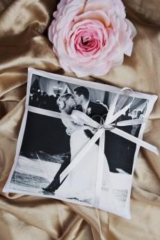 Свадебная подушечка для колец с Вашим фото «Фото»