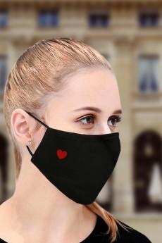 Маска защитная для лица с вышивкой «Сердце»