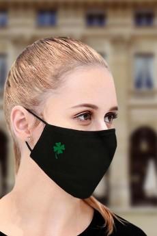 Маска защитная для лица с вышивкой «Клевер»