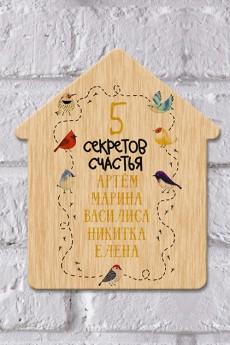 Табличка на дверь с вашим текстом «Птички»