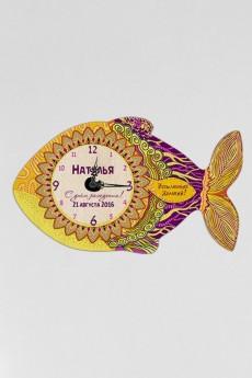 Часы настенные с Вашим именем «Золотая рыбка»