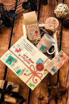 Набор сладостей с Вашим текстом «Посылка от Деда Мороза»
