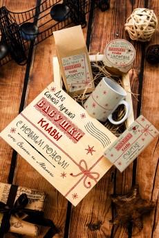 Набор сладостей с Вашим текстом «Новогодняя посылка»