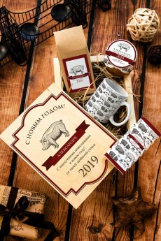 Набор сладостей с Вашим текстом «Новогодняя ферма»