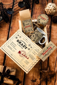 Набор сладостей с Вашим текстом «Новогодний билет»