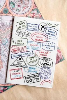 Обложка для паспорта с Вашим именем «Штампы»