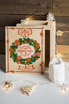 Ящик почтовый новогодний с Вашим именем «Новогодний венок»