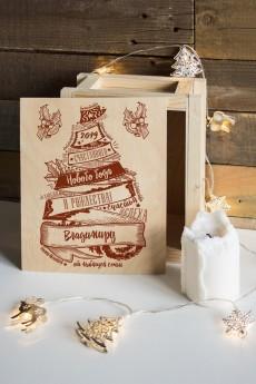 Ящик почтовый новогодний с Вашим именем «Рождественская ель»