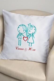Наволочка декоративная с именной вышивкой «Жених и невеста»