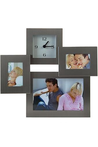 Рамка для 3-х фото с часами