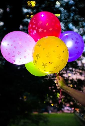 Набор шаров воздушных светящихся