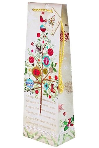 Пакет подарочный новогодний для бутылки
