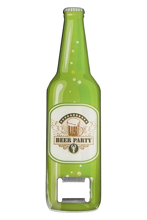 Открывалка для бутылок Пивная вечеринка16*4см, нерж. сталь, резина<br>