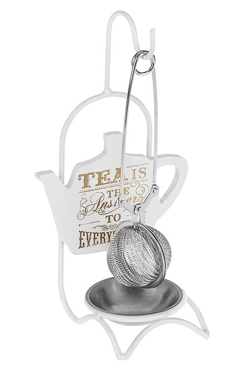 Набор кухонный Чайный ответПосуда<br>2-предм., металл (фильтр-ситечко, подставка)<br>