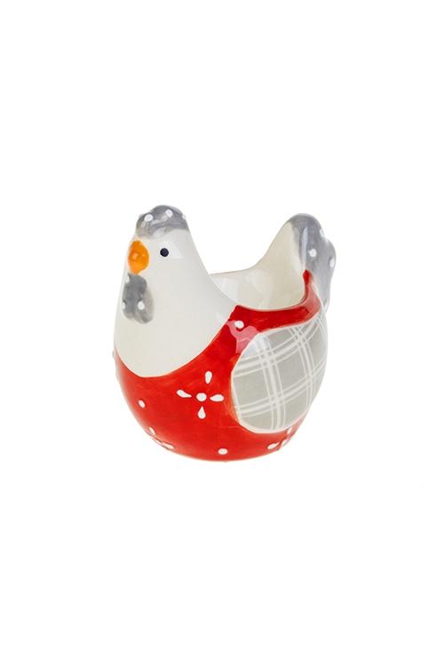 Подставка для яйца Яркая курочкаПосуда<br>Выс=8см, керам.<br>