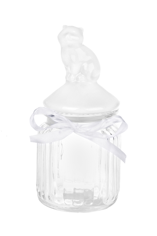Емкость для сыпучих продуктов КошечкаПосуда<br>Выс=17см, керам., стекло<br>