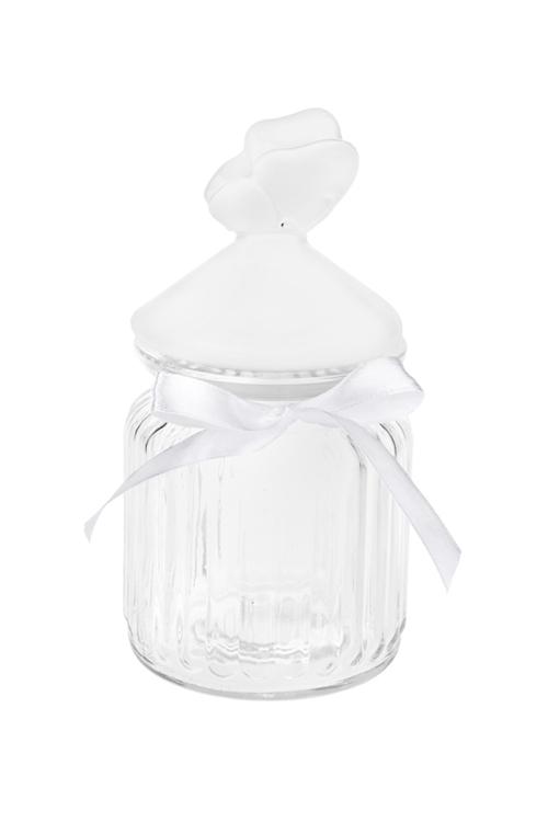 Емкость для сыпучих продуктов БабочкаПосуда<br>Выс=17см, керам., стекло<br>
