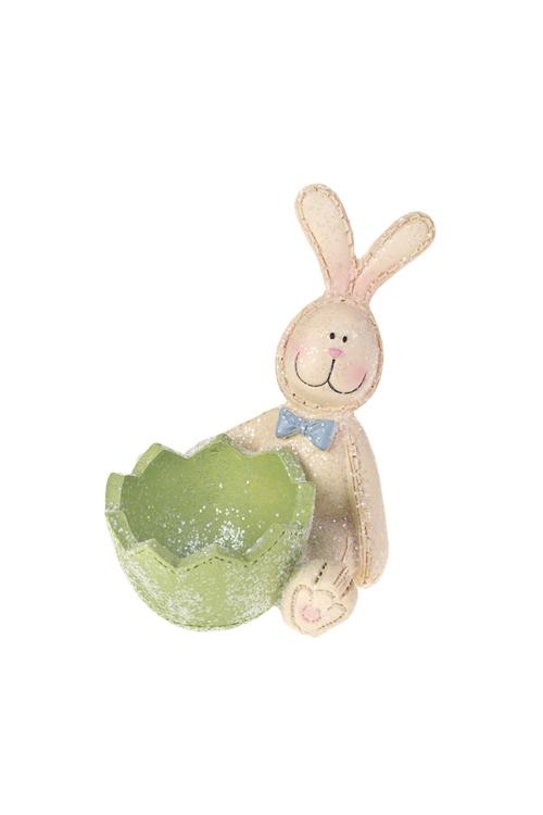 Подставка для яйца Заяц в бабочкеКухонные аксессуары<br>Выс=10см, полирезин<br>