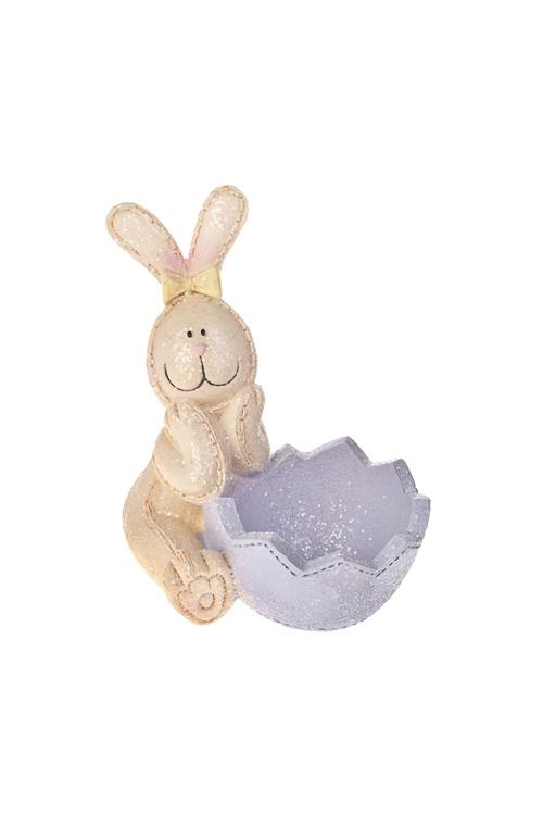 Подставка для яйца Зайка с бантикомПосуда<br>Выс=10см, полирезин<br>