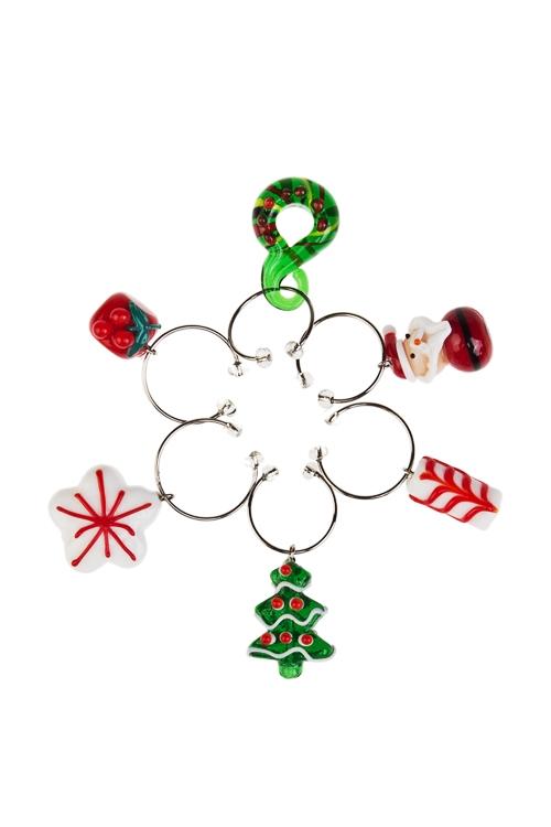 Набор подвесок для бокала Яркий праздникПосуда<br>Стекло, ручная работа<br>