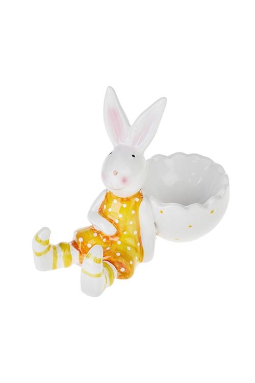 Подставка для яйца Веселый зайчонокПосуда<br>12*6*9см, керам. (2 вида)<br>