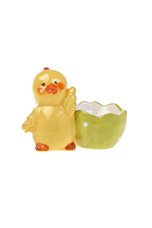 Подставка для яйца Желтенький цыпленочекПосуда<br>Выс=7см, керам.<br>
