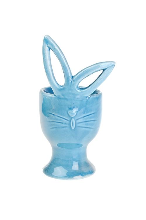 Подставка для яйца ЗайчонокПосуда<br>Выс=12см, керам., голубая<br>